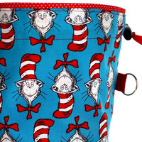 Knitting Project Bag Dr Seuss Reversible Drawstring by Tangerine8