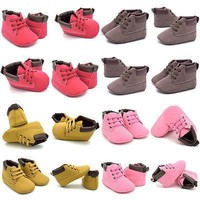 Newborn Baby Casual Shoes Infant Toddler Girl Baby Crib Shoes Boot Newborn Soft Sole M