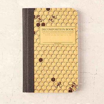 Decomposition Book Honeycomb Pocket Notebook- Dark Yellow One