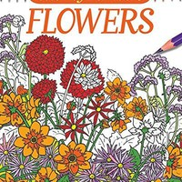 Color by Numbers - Flowers Adult Coloring Book Chartwell Coloring Books CLR CSM