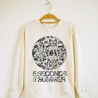 5SOS Shirt 5 Seconds of Summer Shirt Floral Shirt 5SOS Sweater Sweatshirt Jumpers Long Sleeve Women Shirt Men Shirt Unisex Shirt S,M,L