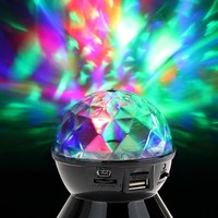 Crystal Ball Colorful LED Lights Wireless Stereo Bluetooth Speaker Support TF Card FM Radio For CellPhones