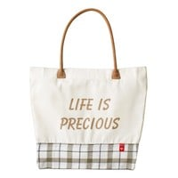 Life is precious, HEART quote bag Zazzle HEART Tote Bag