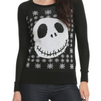 The Nightmare Before Christmas Jack Girls Knit Pullover Top