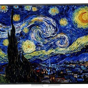 Starry Night Stained Glass by Vincent Van Gogh 13.6H