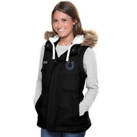 Pro Line Indianapolis Colts Womens Yukon Vale Full Zip Vest - Black
