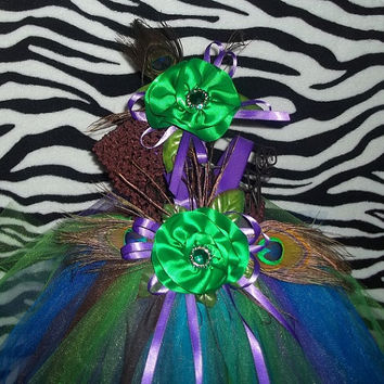 Peacock Tutu Dress Green-Flower Girl-Wedding-Pageant-Birthday, Infant, Baby, Toddler, Girl, Pretty-Unique-Special-Photo-Picture