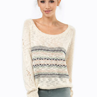 Slightly Isled Crochet Sweater $54