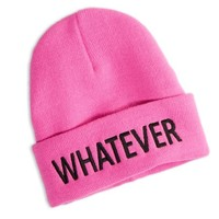 AEO Women's Whatever Beanie (Neon Magenta)
