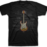 Adult Amazing Guitar Tee Shirt Christian Tee Shirt