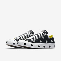 The Converse Chuck Taylor All Star Polka Dots Low Top Women's Shoe.