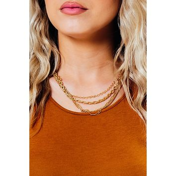 Just So Happy Necklace: Gold