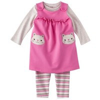 JUST ONE YOU® Made by Carters Newborn Girls' 3 Piece Set - Pink/Heather Gray