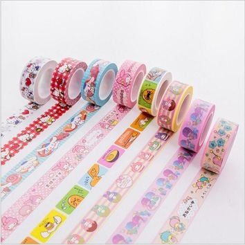 15mm Little Twin Stars Cinnamoroll My Melody Kitty Gudetama Decoration Washi Tape DIY Planner Diary Scrapbooking Masking Tape