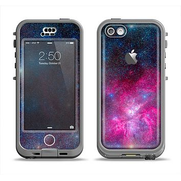The Pink & Blue Galaxy Apple iPhone 5c LifeProof Nuud Case Skin Set