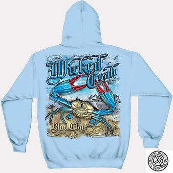 New MARYLAND CRAB BLUE CLAW HOODIE SWEATSHIRT