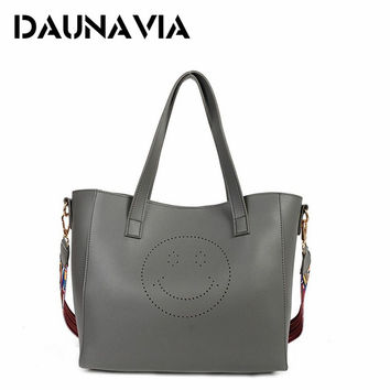 Luxury Handbags Women Bags Designer Pu Leather Bag Smile Casual Tote Bag Set Famous Brand Women Shoulder Bags Sac a main ND179