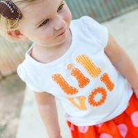 Lil Vol kids shirt, UT tie, Tennessee or customize for your favorite team