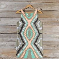 Native Sage Beaded Dress