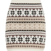Fair Isle Sweater Skirt - Pristine Combo
