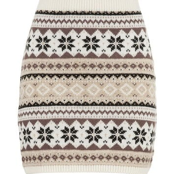 Fair Isle Sweater Skirt - Pristine Combo from maurices