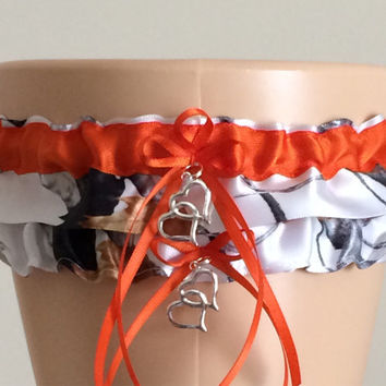 c16adf41458 True Timber Snowfall Orange Camouflage Wedding Garter Set