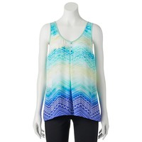 Candie's Print High-Low Tank