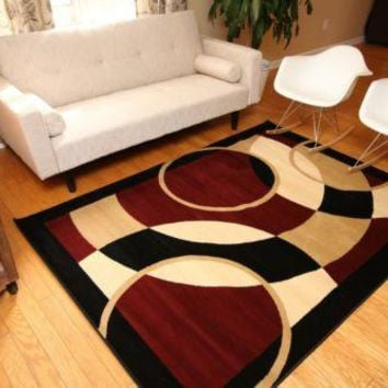 New Circles Modern Wool Blend Area Rugs