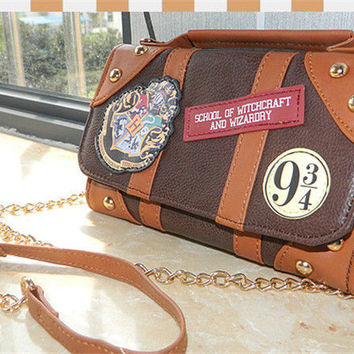 New 2017 Harry Potter Hogwarts Handbags PU School Badge Wallet Package Collectibles Shoulder Bag Brands Women Messenger Bags