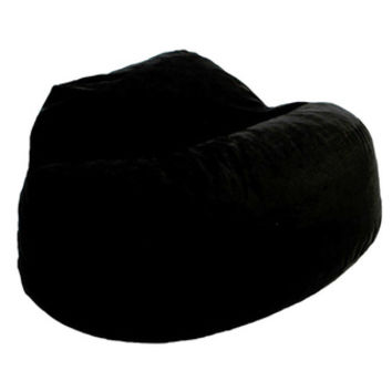 FufSack Black Microfiber Bean Bag Loveseat