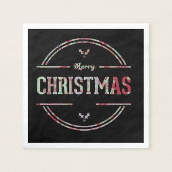 Merry Christmas Greeting Paper Napkin