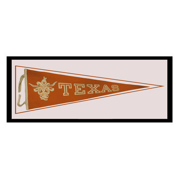 Vintage 1950s University of Texas Longhorns Framed Pennant