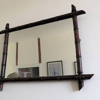 Antique French, Faux Bamboo Mirror, Home Decor, COURIER