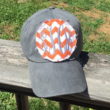 Monogram Patch Baseball Hat
