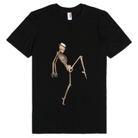 Funky Dancing Skeleton Fun T-Shirt-Unisex Black T-Shirt