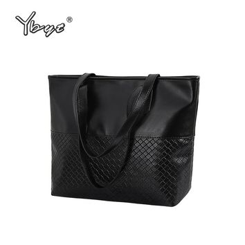 YBYT brand 2018 new tote knitting medium handbag hotsale ladies party purse wedding clutch vintage women shoulder shopping bags