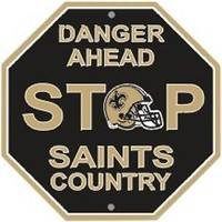 NFL New Orleans Saints Stop Sign