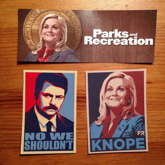 Parks Amp Rec Sticker Set From Twolamegirls On Etsy Things