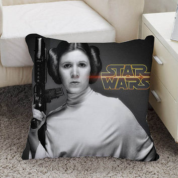 star wars princess leia Pillow case size 16 x 16, 18 x 18, 16 x 24, 20 x 30, 20 x 26 One side and Two side