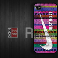 Case iPhone 4 Case iPhone 4s Case iPhone 5 Case idea case just do it case nike case aztec case
