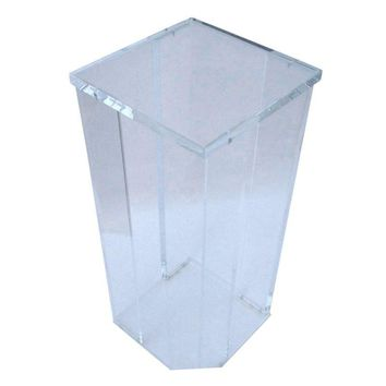 Pre-owned Lucite Pedestal Stand