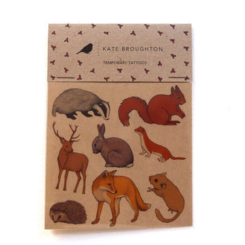 woodland animal tattoo stickers