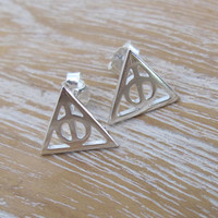 Silver Deathly Hallows Earrings, Harry Potter- Voldemort's Horcrux
