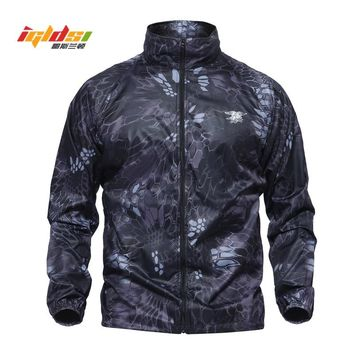 IGLDSI Men Military Army Skin Jackets Summer Tactical Navy Seal Lightweight Camouflage Jacket Waterproof Thin Raincoat Windbrer