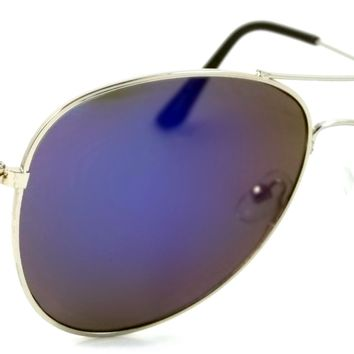 Retro Classic Aviator Sunglasses Connelly Pilot Metal Frame