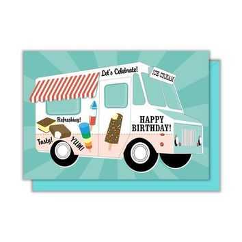 Ice Cream Truck Enclosure Card