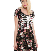 Floral Rib Cage Dress