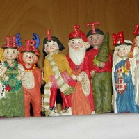 Vintage 1986 Mary Engelbreit Christmas Pageant Screen