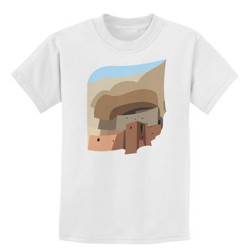 Montezuma Castle Artwork Childrens T-Shirt