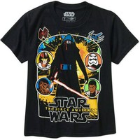 Star Wars The Force Awakens By The Light Men's Graphic Tee - Walmart.com